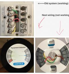wiring issue old hvac vs nest pic  [ 1936 x 1936 Pixel ]