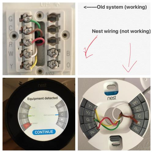 small resolution of wiring issue old hvac vs nest pic