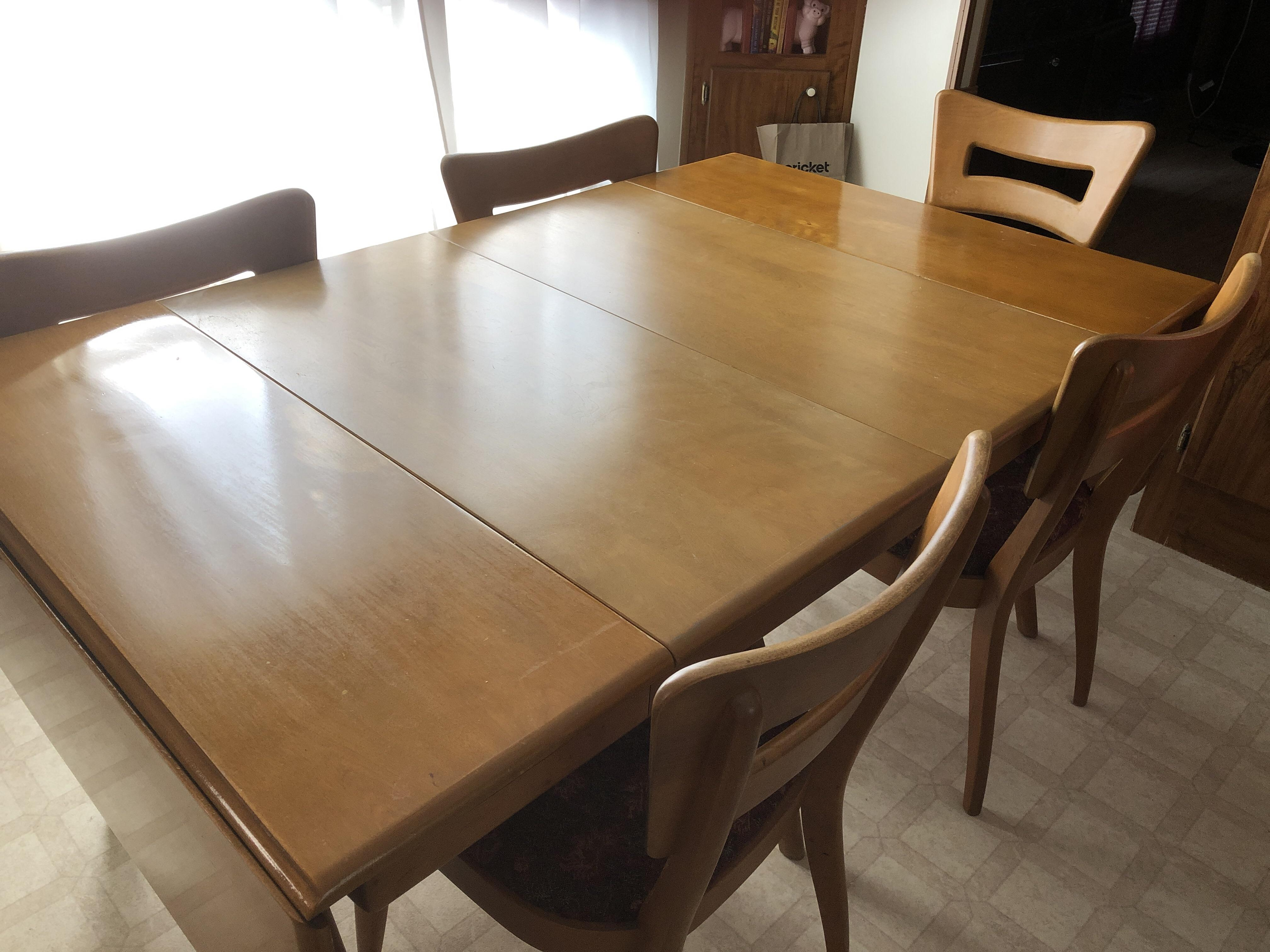 Heywood Wakefield Dining Chairs My Moms Heywood Wakefield Dining Table Set Mid Century