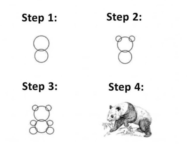 What drawing instructions really look like : funny