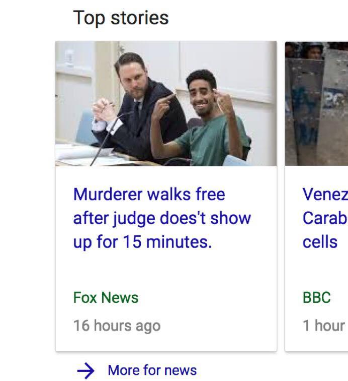 murderer walks free after