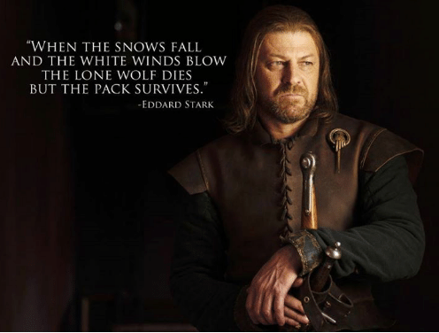 When The Snow Falls And The White Wind Blows Wallpaper Sansa S Words Are The Same As Ned S Words In Books It