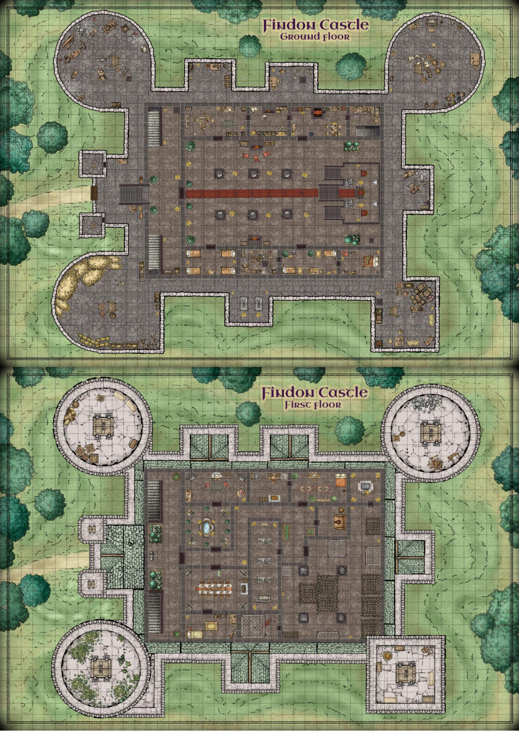 Help me find a mega-dungeon sized castle map : DnD