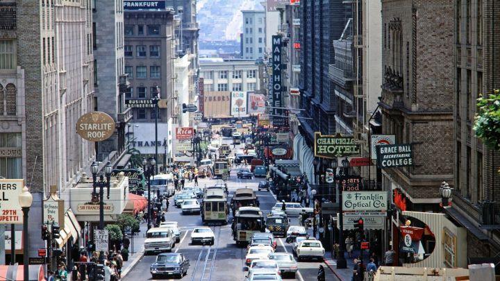 Powell Street, San Francisco California – 1968 [1600 x 900]