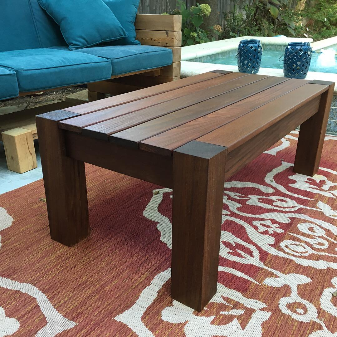 latest build patio coffee table out of