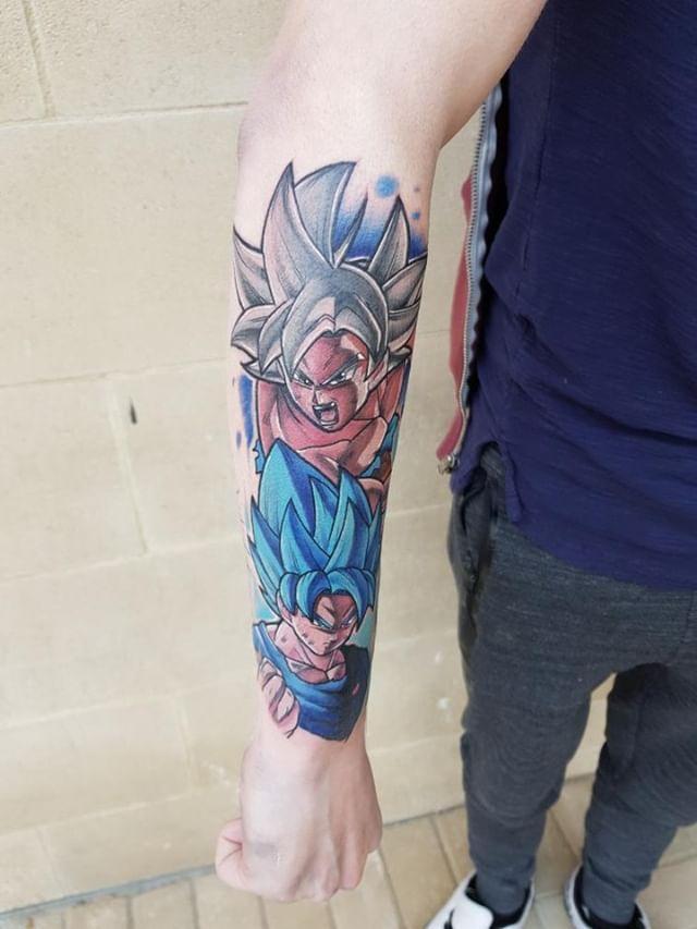 Goku Ultra Instinct Tattoo : ultra, instinct, tattoo, Ultra, Instinct, Ssblue, Tattoo, Tokyo, Tattoo:
