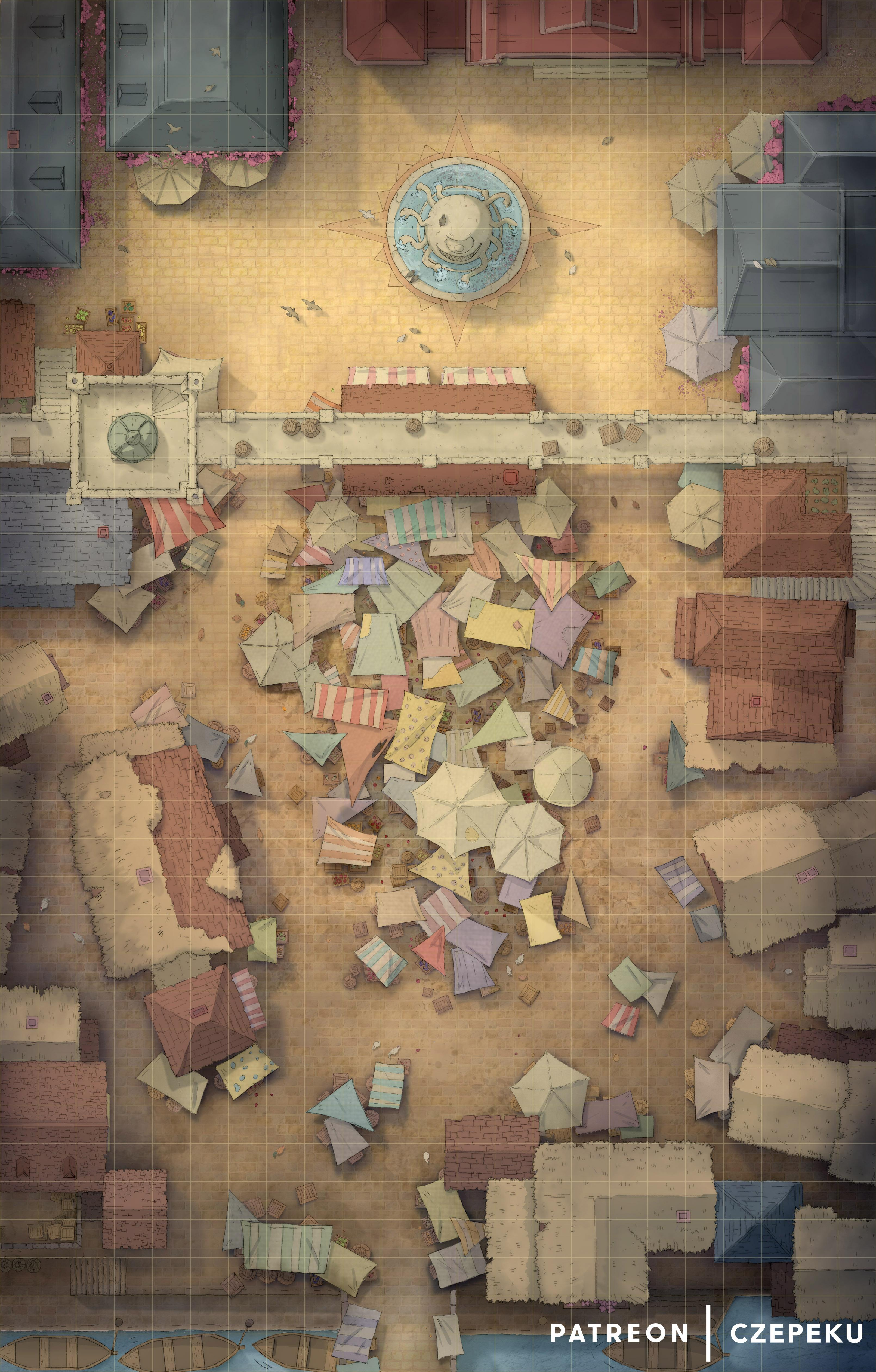 City Battle Map : battle, Marketplace, Battlemap, [23x36], Battlemaps