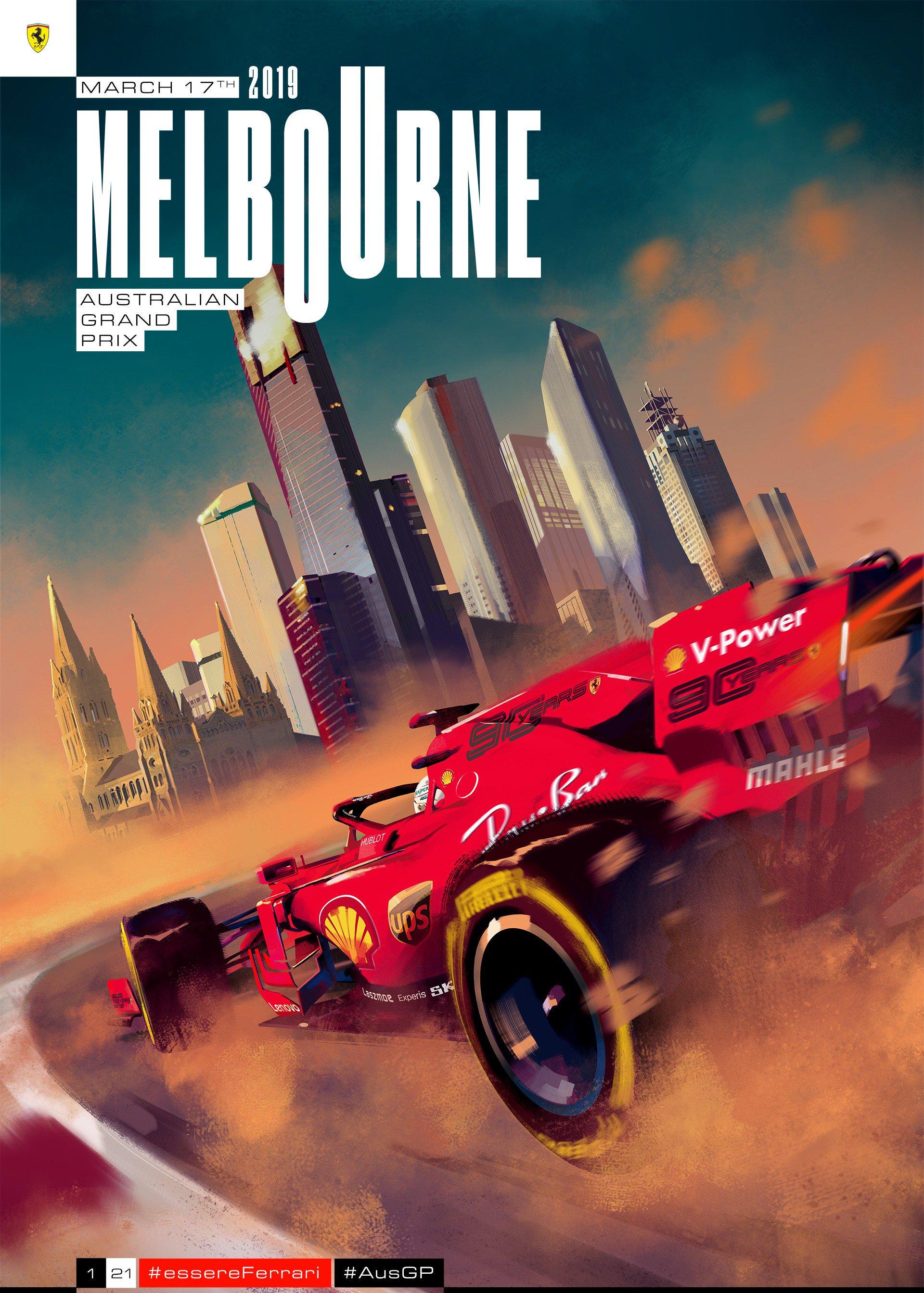 ferrari s australian gp poster formula1