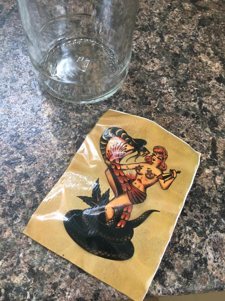 Sailor Jerry Stickers : sailor, jerry, stickers, Soaked, Bottle, Sailor, Jerry, Label, There, Limited, Edition, Transfer, Underneath, Mildlyinteresting
