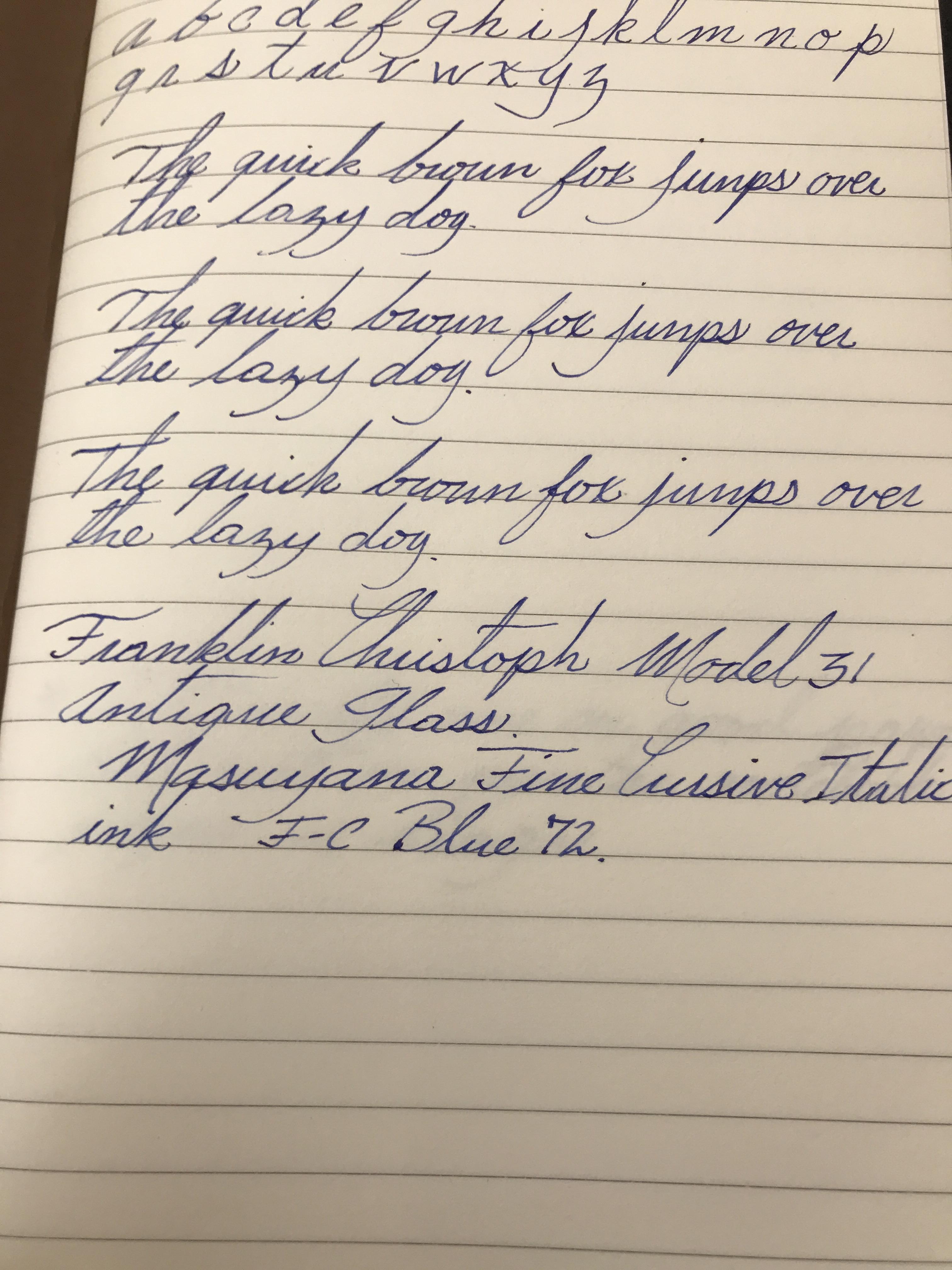 Example Of Italic Handwriting Handwriting T Handwriting