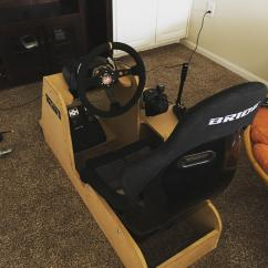 Hydraulic Racing Simulator Chair Reclining Wingback Here Is My Rig Logitech G920 With Nrg 350mm Wheel Bride