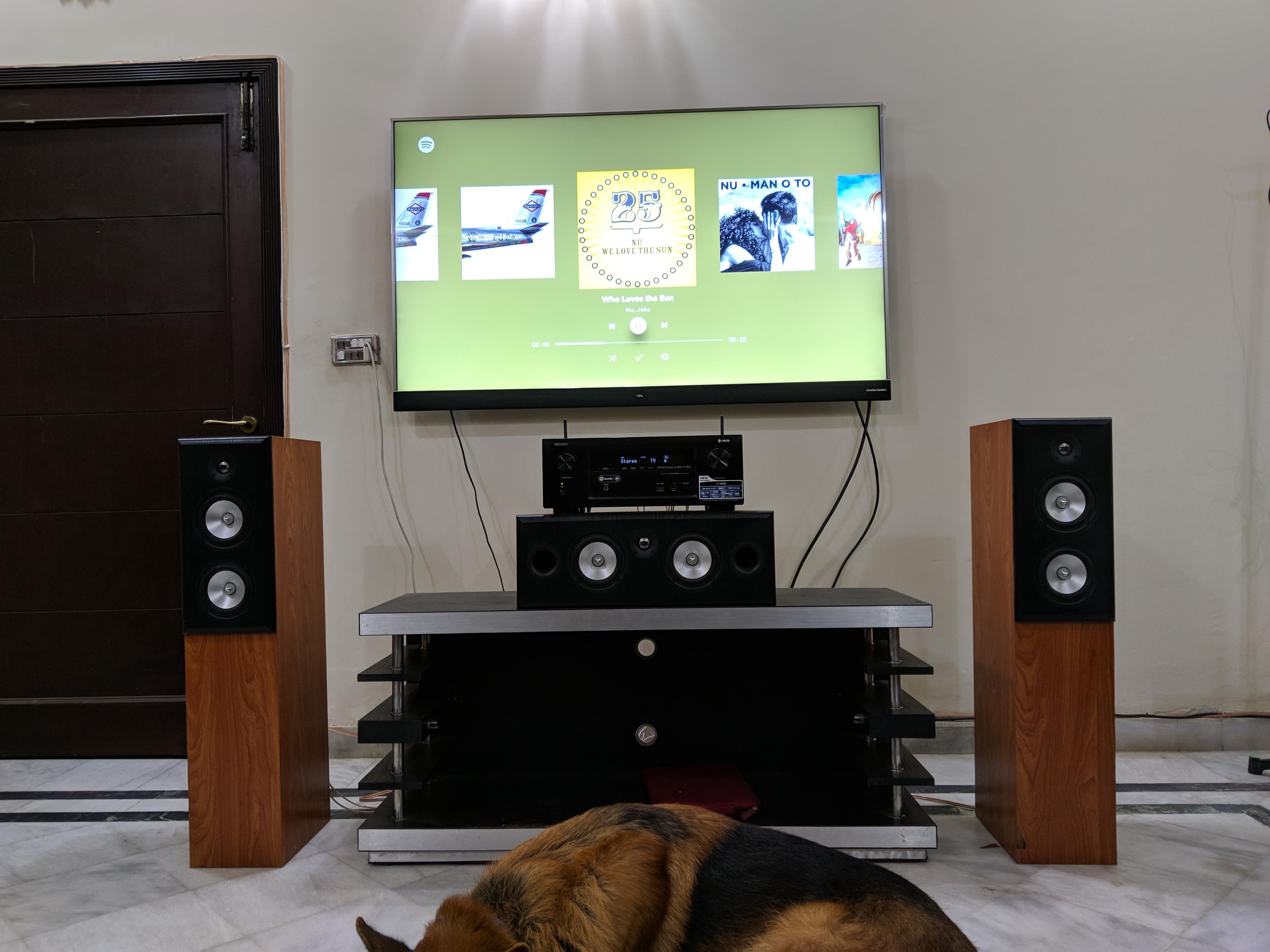 my speaker setup diy