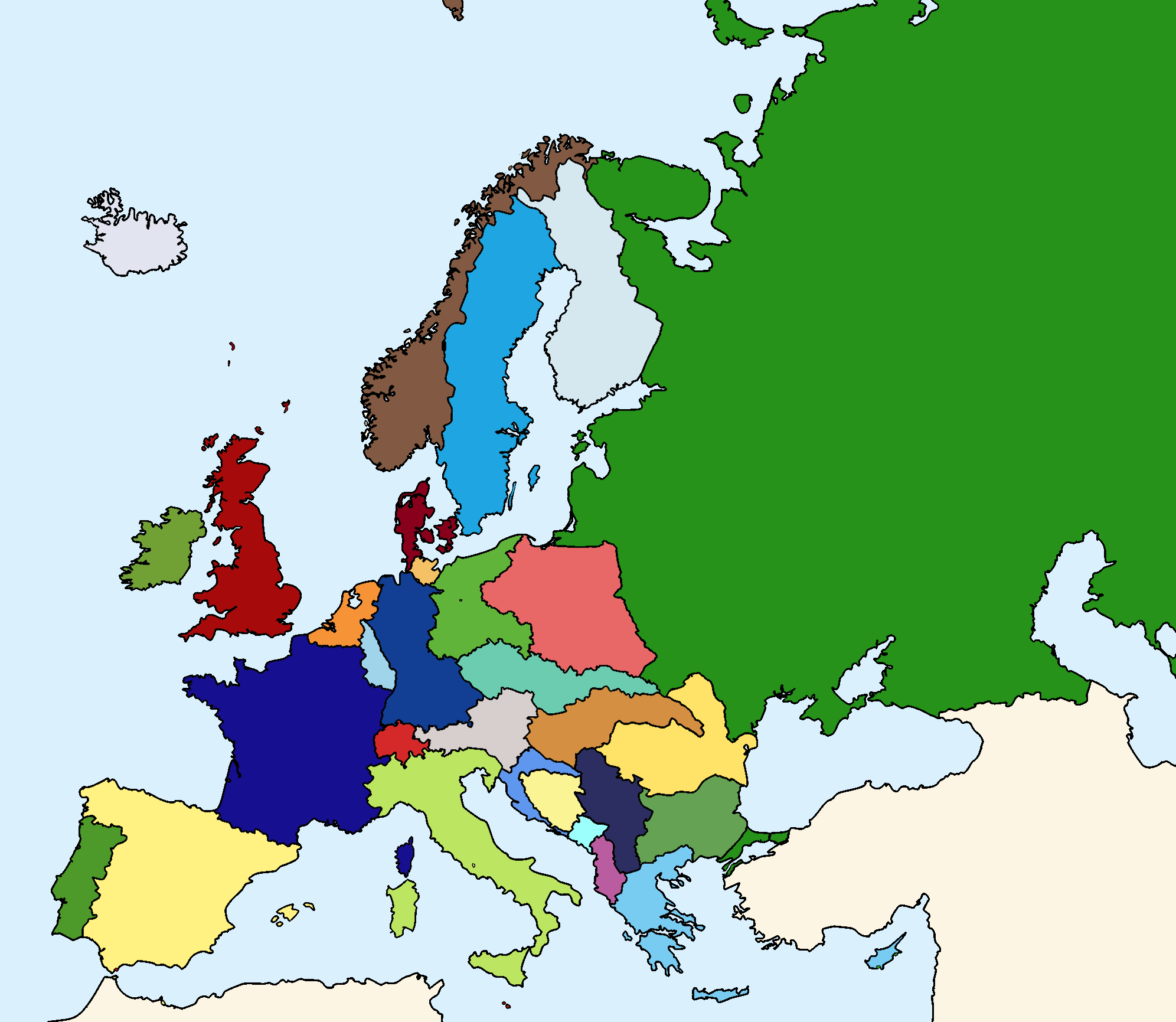 Online Map Around The World 30 Cold War Map Of Europe