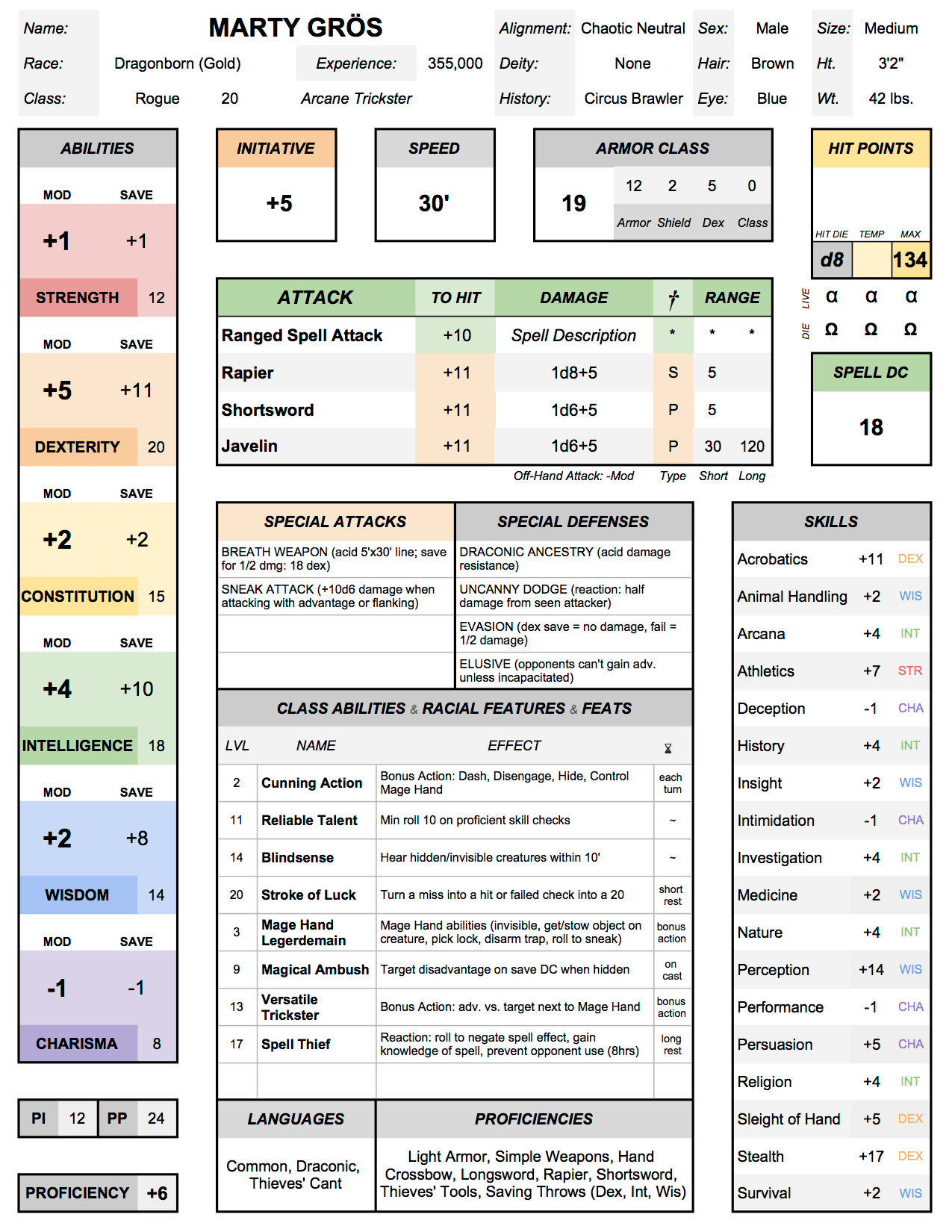 Character Sheet v30  Major Redesign All the automation
