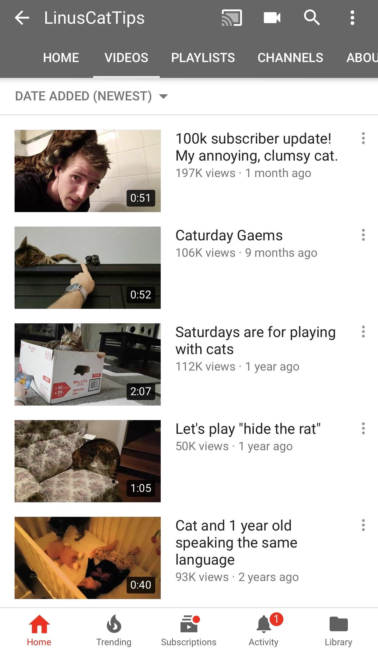 Can we please take some time to appreciate that Linus also has a Cat Tips channel : LinusTechTips