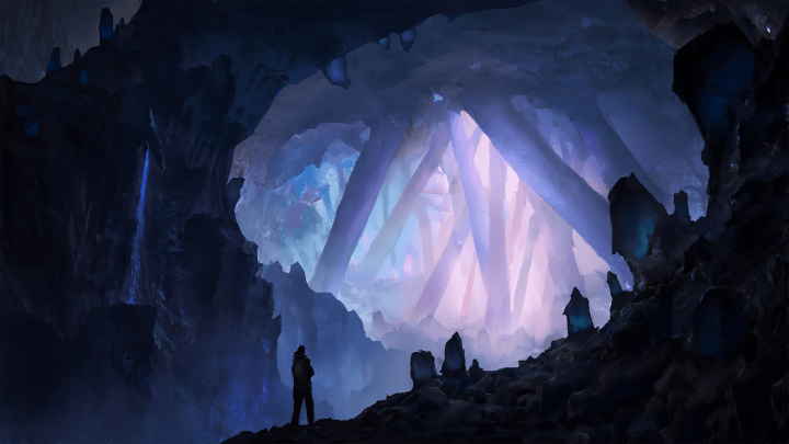 [3840×2160] Crystal Cave (8k link in comments)