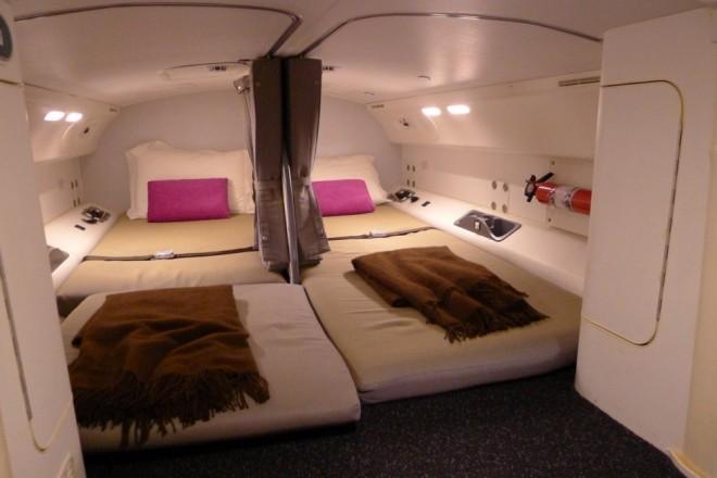 Boeing 787 Dreamliner Forward Crew Rest Area located