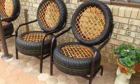 A chair made from tires. : mildlyinteresting