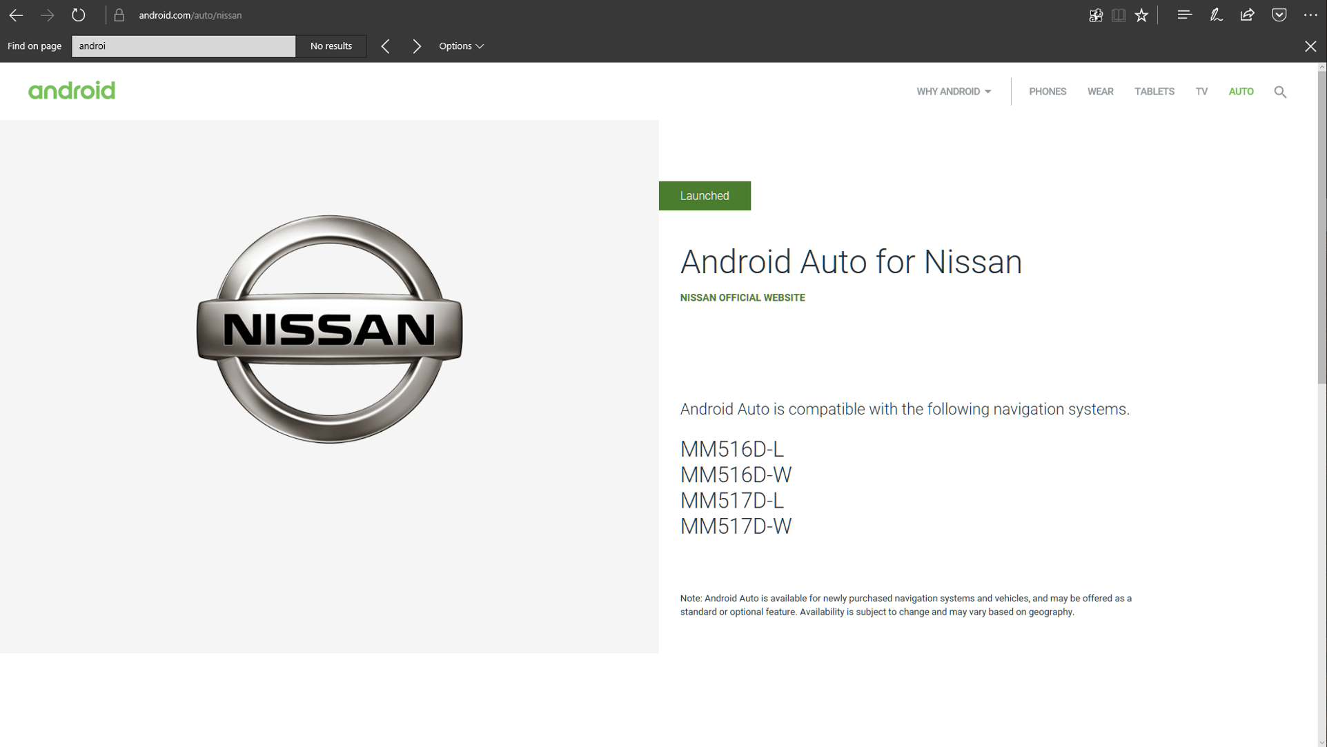 There S A List Of Nissan Navigation Systems Posted Now With Android Auto Support How Do You