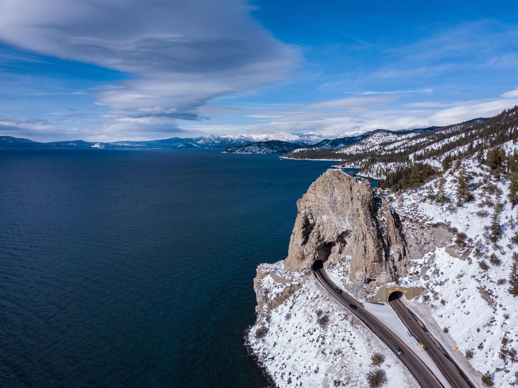 hight resolution of cave rock lake tahoe mavic pro 1st gen edited in lightroom