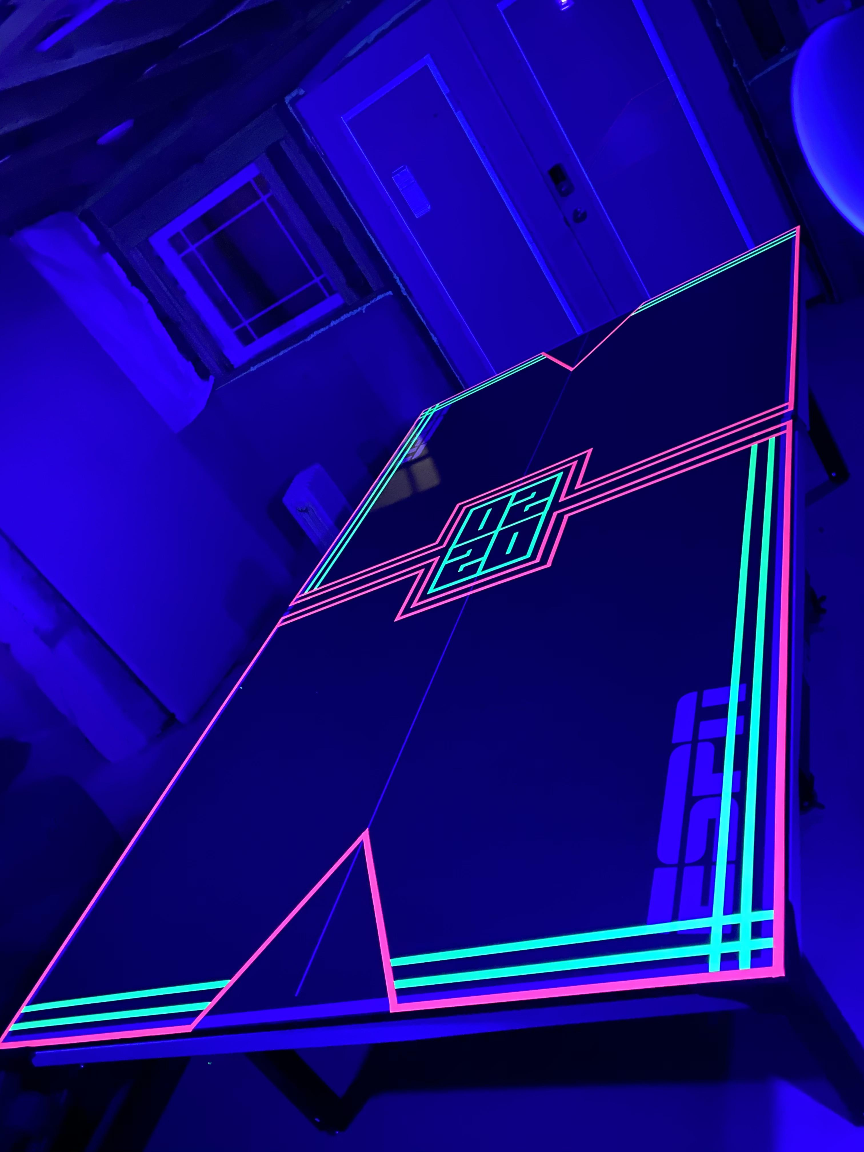 a ping pong table i decorated with
