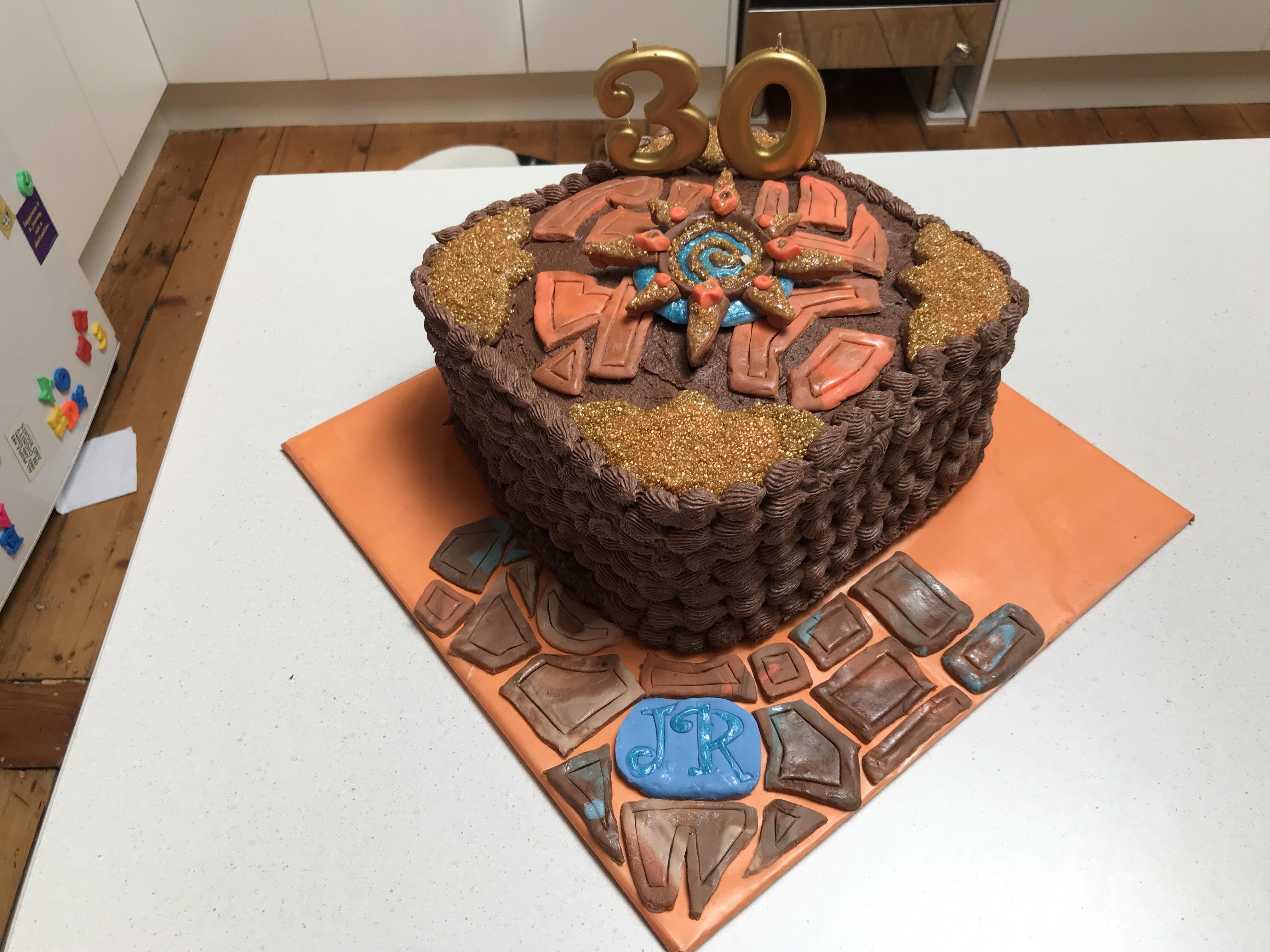 Hearthstone Birthday Cake Made For My Husbands 30th Hearthstone
