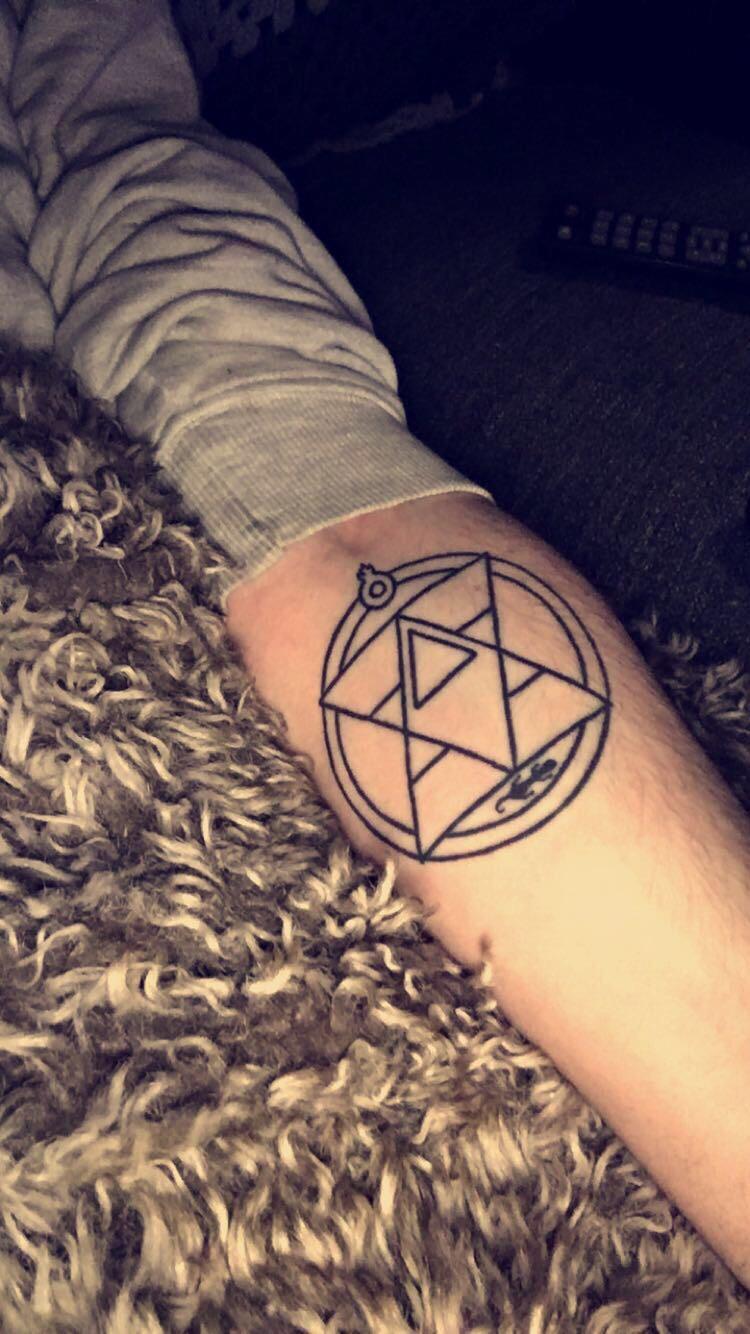 Fullmetal Alchemist Scar Tattoo Design