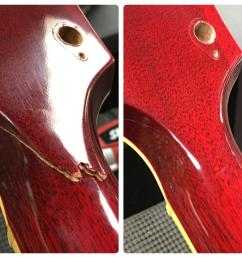 a recent headstock repair i did on a gibson es 345 i u0027m reallya recent [ 3438 x 3438 Pixel ]