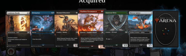 MTG Arena Cosmetic Cards