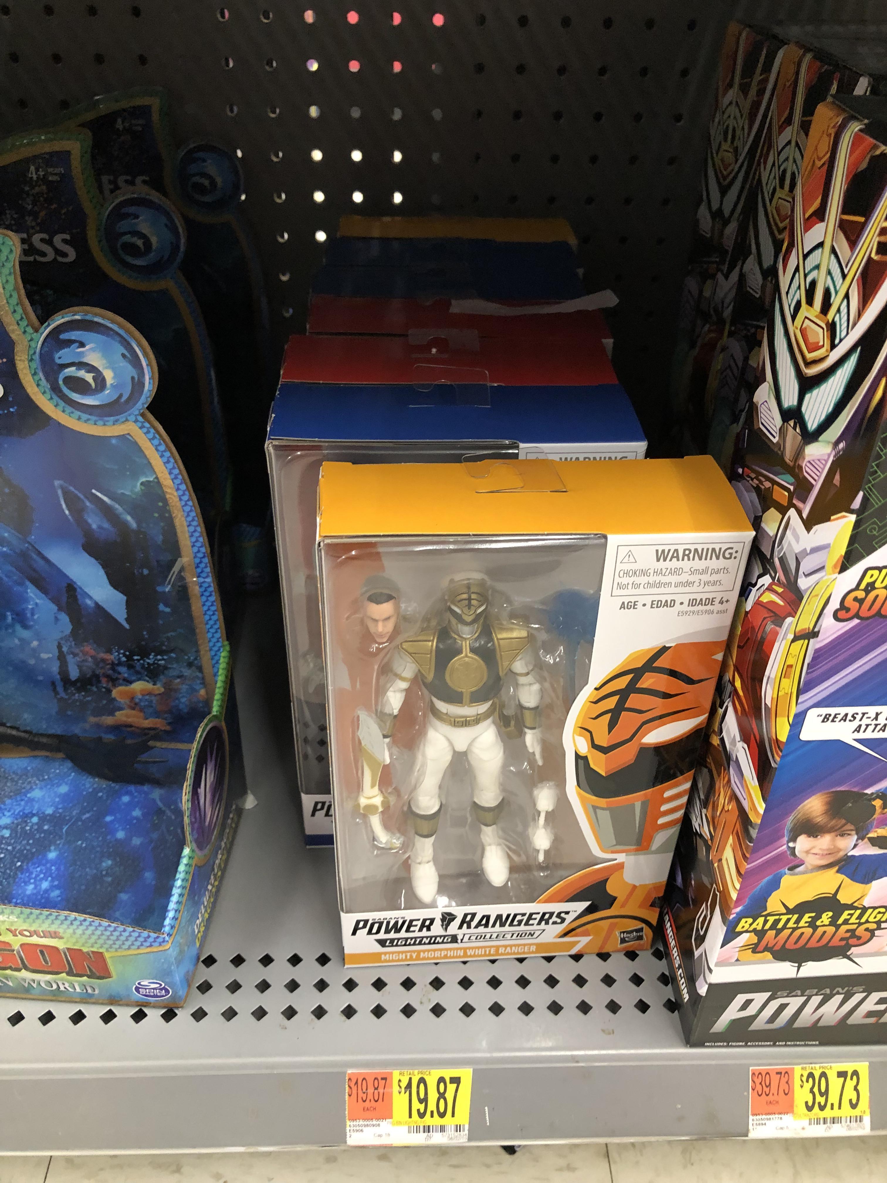 Caught a restock at Walmart : powerrangers