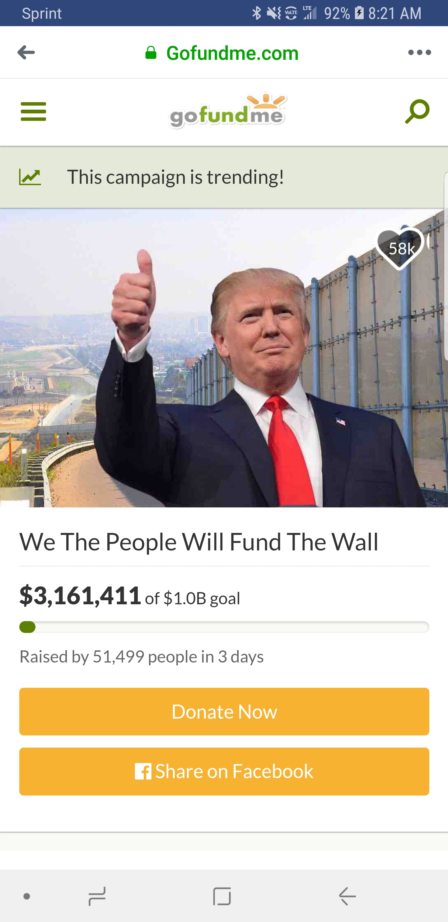 Go Fund Me Meme : Trump, Actually, Throwing, Money, GoFundMe, Build, Wall., Betting, Campaign, Runner, Disappears, Money., DeFranco