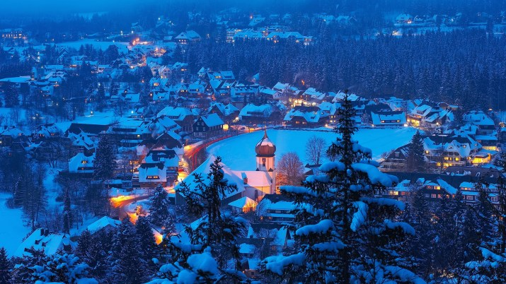 Snow in Hinterzarten, Germany [1920×1080]