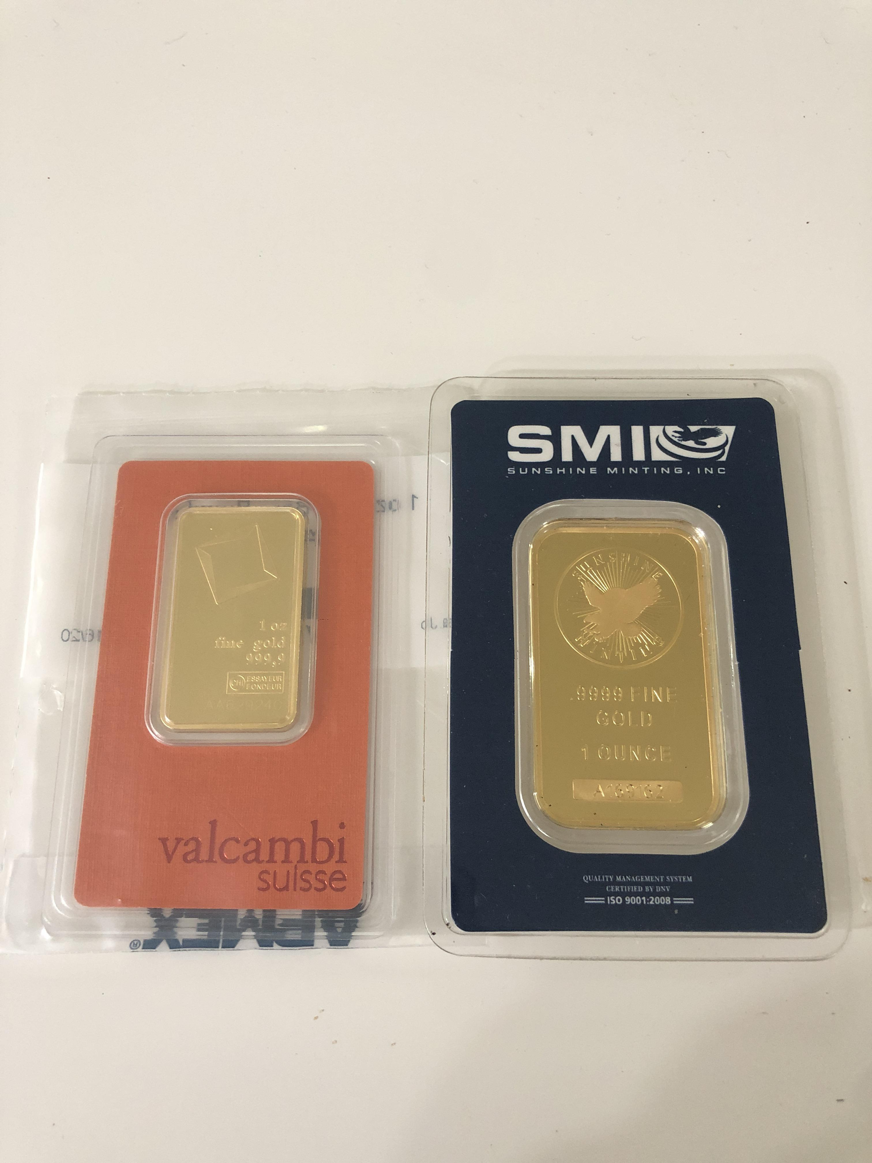1 Ounce Gold Bar Size : ounce, These, Significantly, Different, Sizes?, Valcambi, Appears, Thinner., Purchases, APMEX., Buyer,, Would, Appreciate, Here.