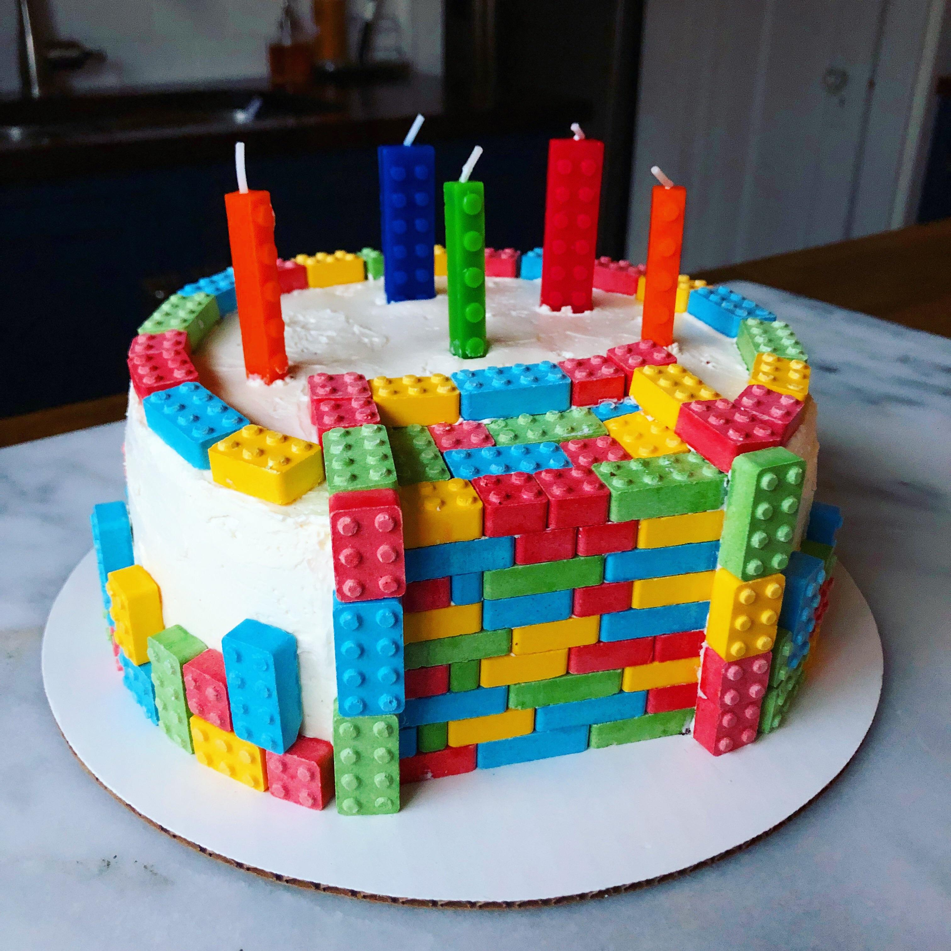 Homemade Lego Cake Food