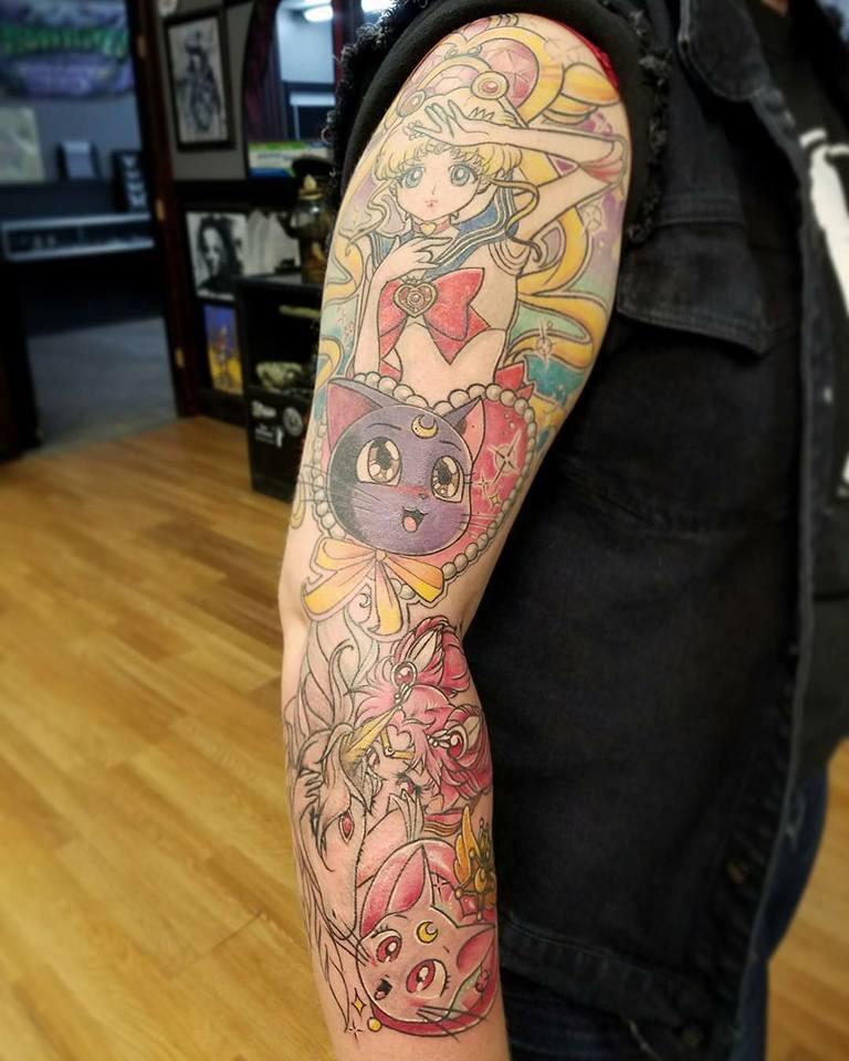 Small Simple Sailor Moon Tattoo