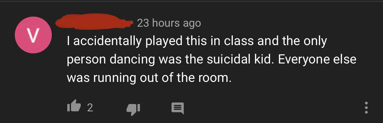 Found this in the comment section of pumped up kicks : thatHappened