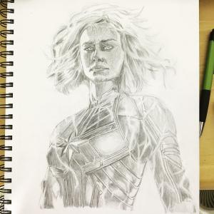 marvel captain drawing pencil realistic sketch artwork colorful