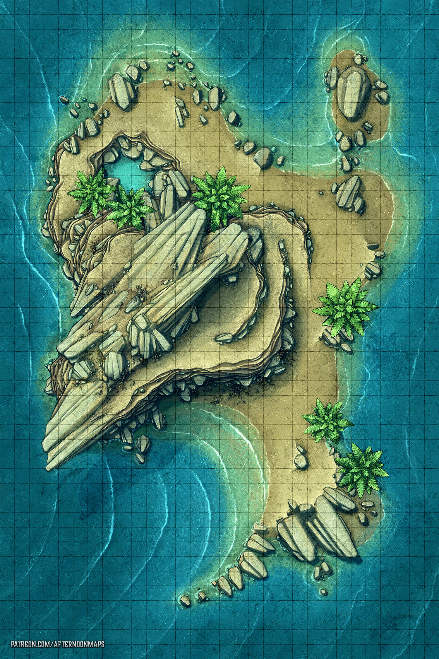 Forgotten Desert Purple Map : forgotten, desert, purple, Uninhabited, Desert, Island, Please, Ignore, Giant, Footprints, (Battle, 30x45), Roll20