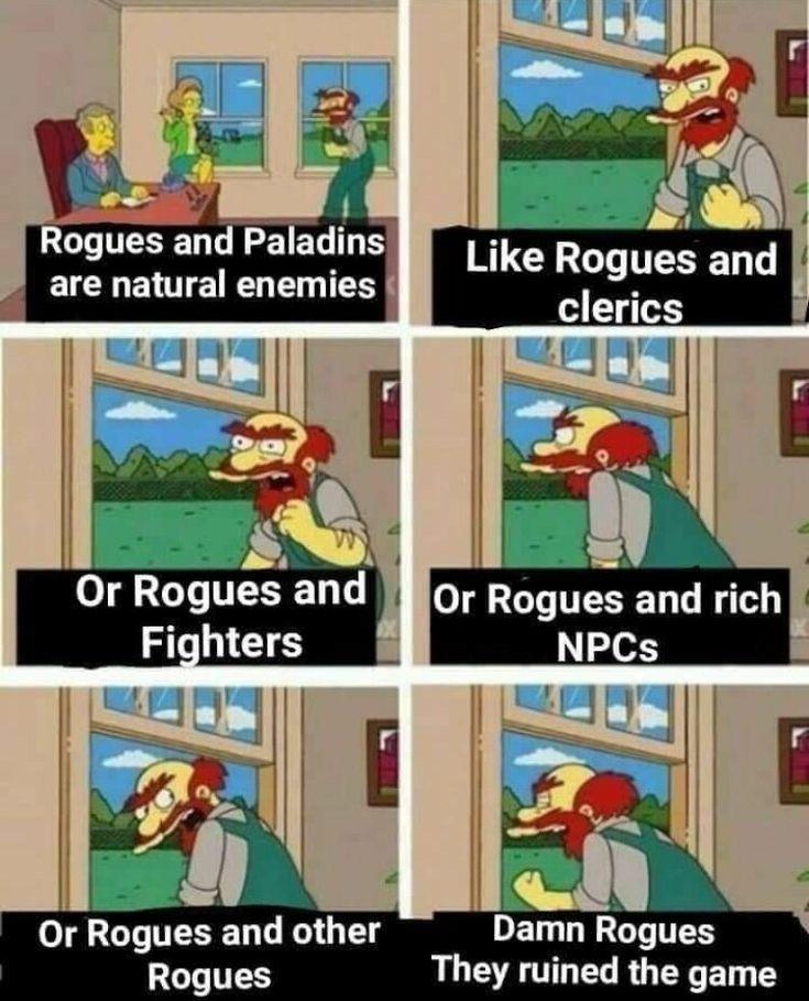 Rogue Dnd Memes : rogue, memes, Rogues, Dndmemes
