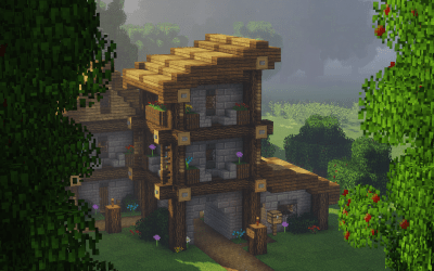 Here s the second construction in my medieval town A medieval townhouse! : Minecraft