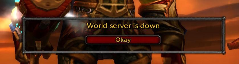 world server is down