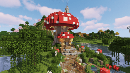 Thought I would try a Mushroom House Build For Something Different Any Thoughts? : Minecraft