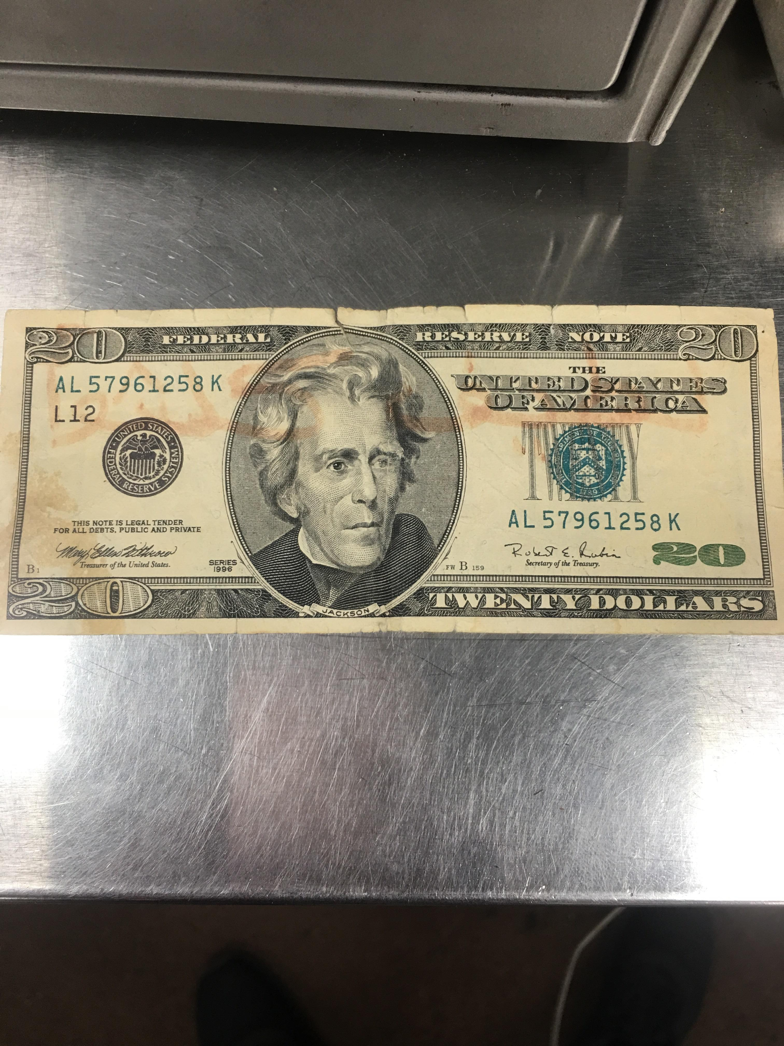This 20 Dollar Bill Has A Blue Seal Instead Of Green Is