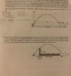 Grade 10 Precalc How to solve this Parametric Equation Word Problem? I'm  stumped on the process (ex. I don't understand what I'm supposed to be  finding...Do I guess and check? or is [ 4032 x 3024 Pixel ]