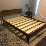 Built This Walnut Bed Frame To Finally Get My Mattress Off The Floor Woodworking