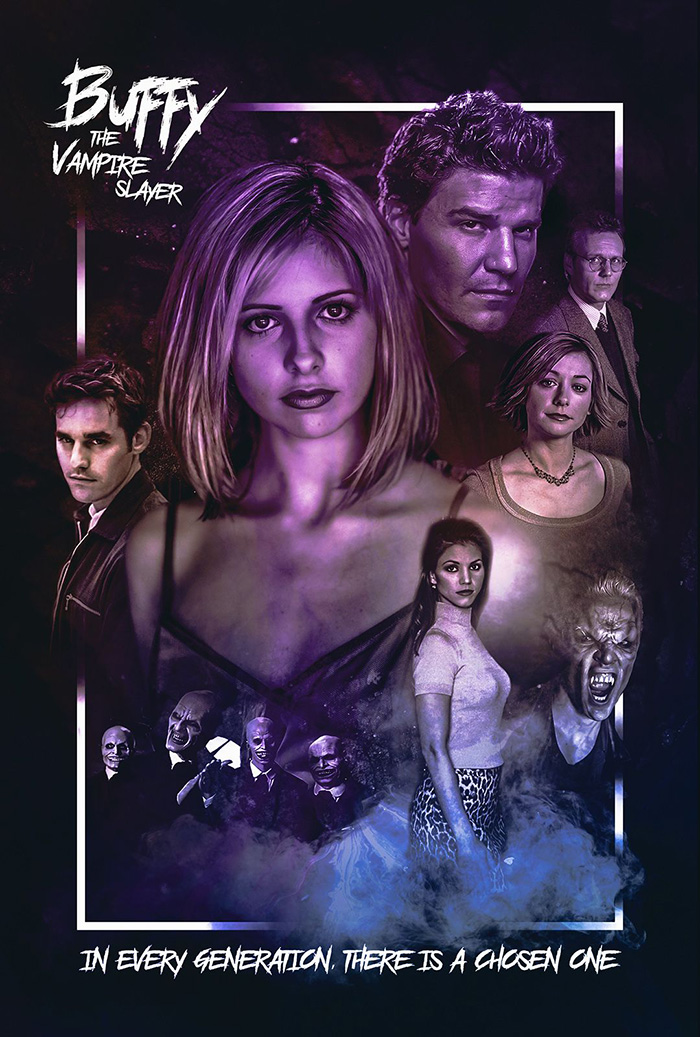 buffy the vampire slayer poster by colm