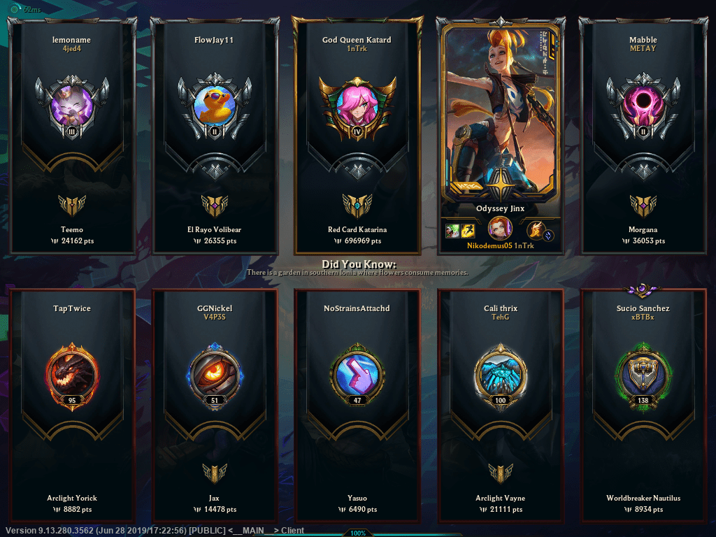 my mastery points lmao
