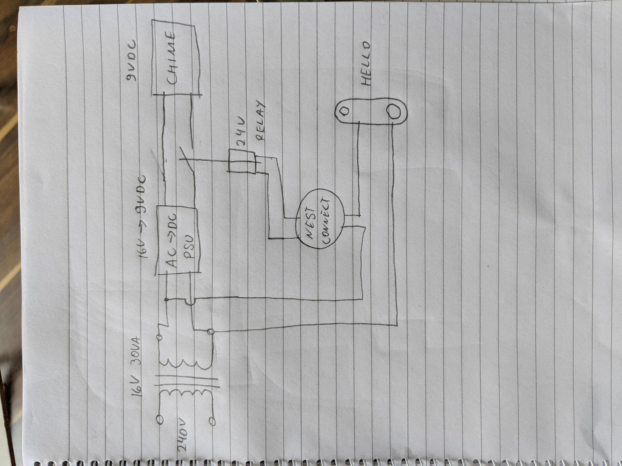 hight resolution of nest hello wiring diagram for battery operated wired doer bell uk