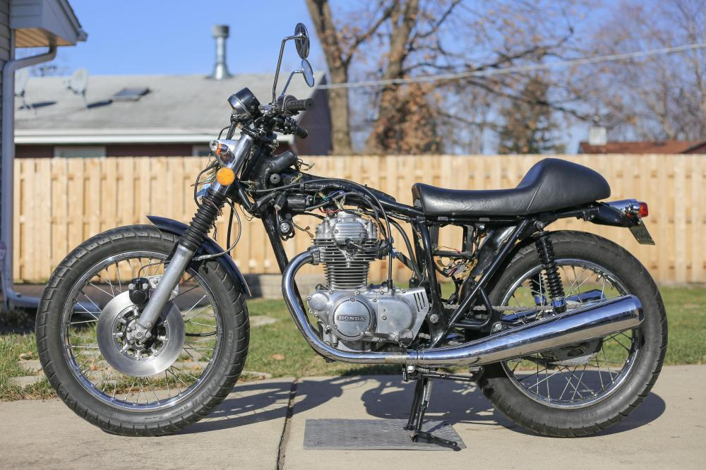 medium resolution of 1975 honda cb360t resto mod progress