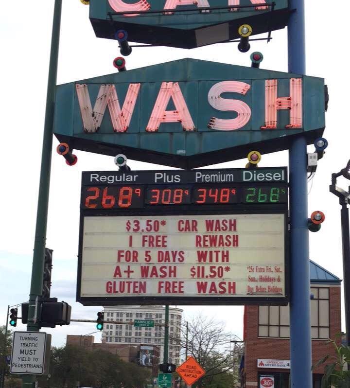 gluten free car wash